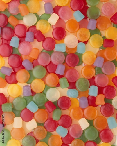 Variety of Gum Drops; Full Frame