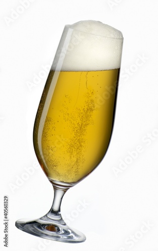 Pils glass, at an angle