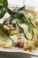 Pepper and courgette gratin