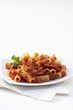 Rigatoni amatriciana with cabanossi