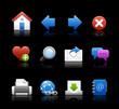 Web Icons // Black Background