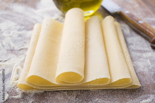 Sheet of pasta dough