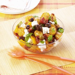Mediterranean potato salad with olives and feta