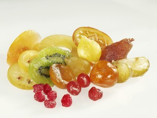 Candied fruit, in a heap