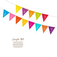 "Card Festoons Triangle ""Happy Birthday"" Colour"