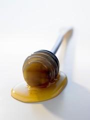 Honey dipper with honey
