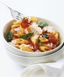 Penne with tomato sauce, Parmesan and basil