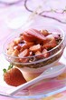 Muesli with rolled oats and strawberries