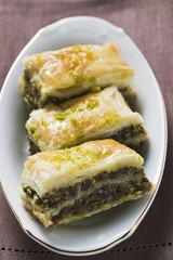 Baklava (Filo pastry with honey and pistachios, Turkey)