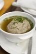 Liver dumpling soup with chives