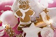 Gingerbread man & assorted gingerbread biscuits for Christmas