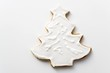 Gingerbread fir tree with white icing