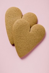 Two gingerbread hearts