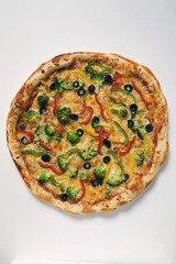 American-style vegetable pizza