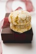 Italian almond biscuits to give as a gift