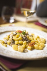 Gnocchi with anchovies