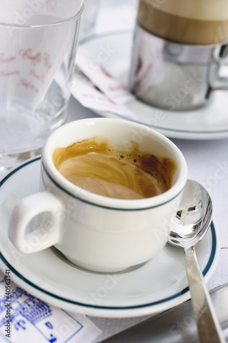 Cup of espresso in café in St. Mark's Square (Venice, Italy)