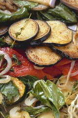 Roasted vegetables with herbs