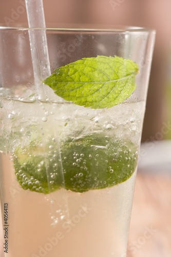 Mojito with lime and mint
