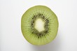 Half a kiwi fruit (cross section) from above