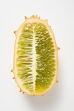 Kiwano (horned melon), halved lengthwise