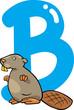 B for beaver