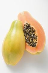 Papaya, halved
