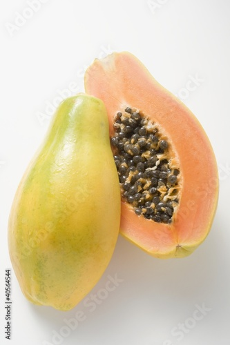 Papaya, halved
