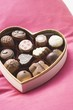 Chocolates in heart-shaped box