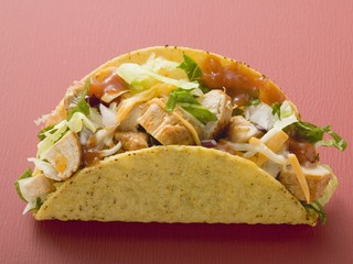 Chicken taco (red background)
