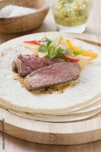 Tortilla with beef and peppers (Mexico)