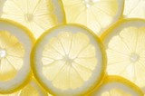 Several lemon slices (backlit)