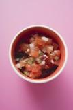 Tomato salsa in a pot