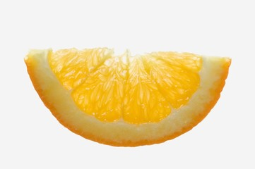 Half a slice of orange (backlit)
