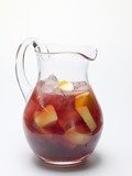 Sangria in a glass jug