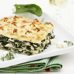 Spinach and sheep's cheese lasagne
