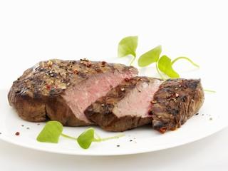 Fried beef rump steak