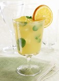 Mint Orange Cooler in a Glass; Orange Garnish