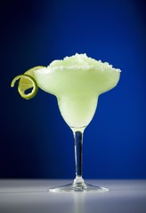 Frozen Lime Margarita with Lime Garnish