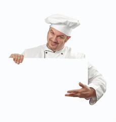El menú de un cocinero.