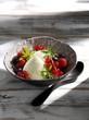 Lemon verbena cream with berries