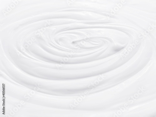 Creamy natural yogurt (macro zoom)
