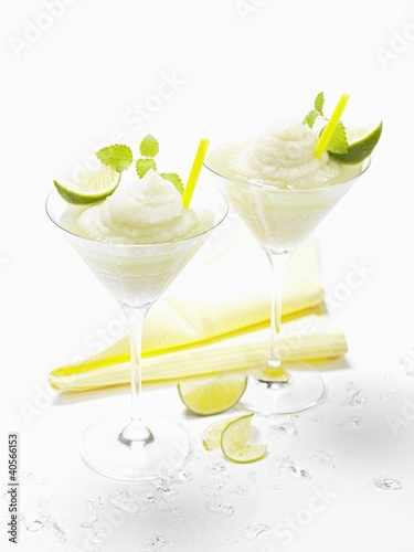 Frozen vodka lemon