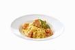Fettuccine Alfredo with shrimps