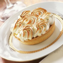 Lemon Tart with Toasted Meringue Top