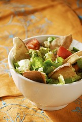 Fattoush: bread and vegetable salad (Lebanon)