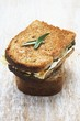 Toasted courgette and cheese sandwich