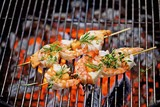 Barbecued prawn skewers