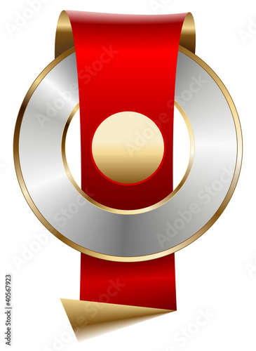 Red Ribbon and Gold seal