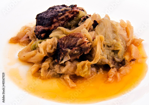 Cooked cabbage